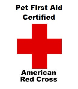 Red Cross Pet First Aid Certified